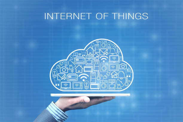Cloud of IOT - Internet of things stock photo