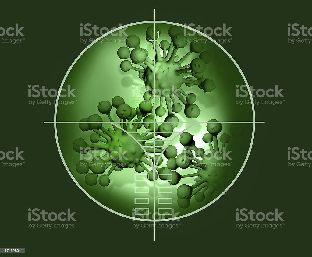 cloud of micro organizam royalty-free stock photo