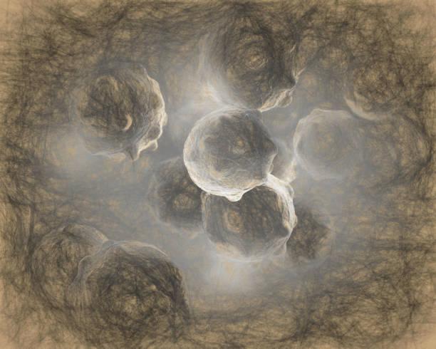 cloud of micro organizam stock photo