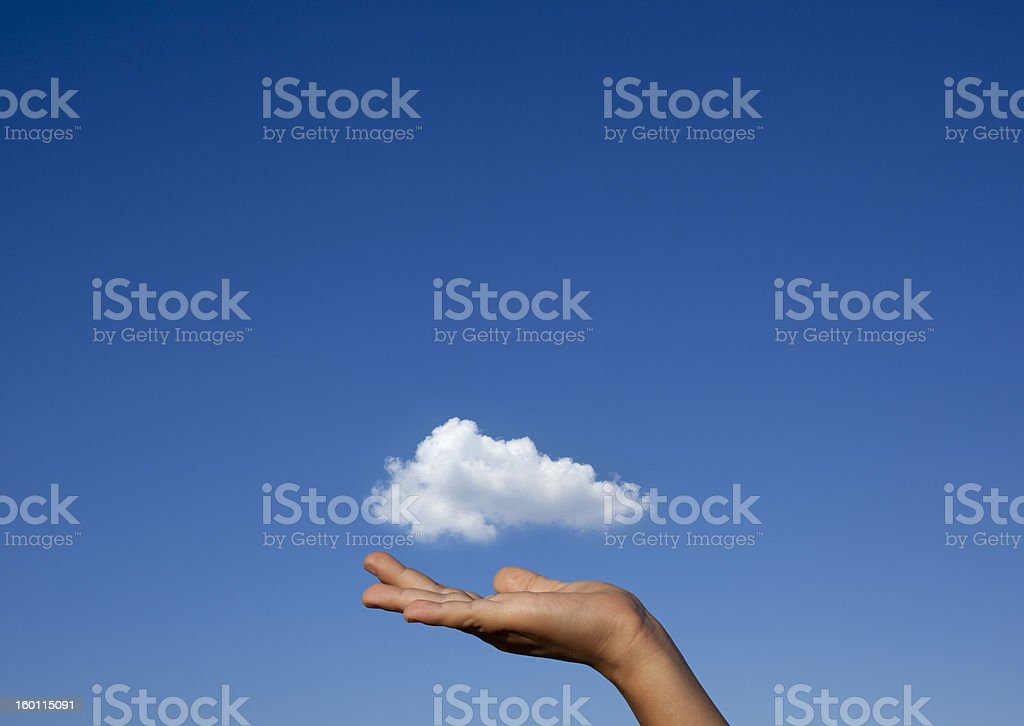 Cloud On Hand royalty-free stock photo