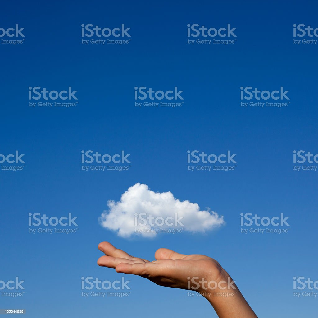 Cloud On Hand, Square royalty-free stock photo