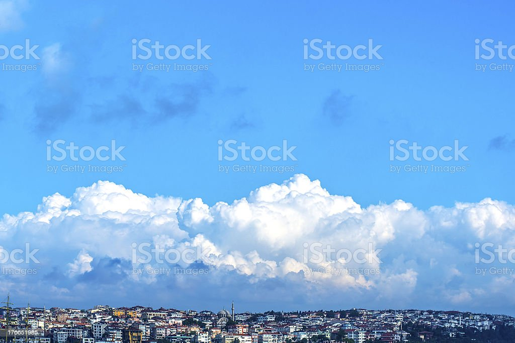 Cloud on the City royalty-free stock photo