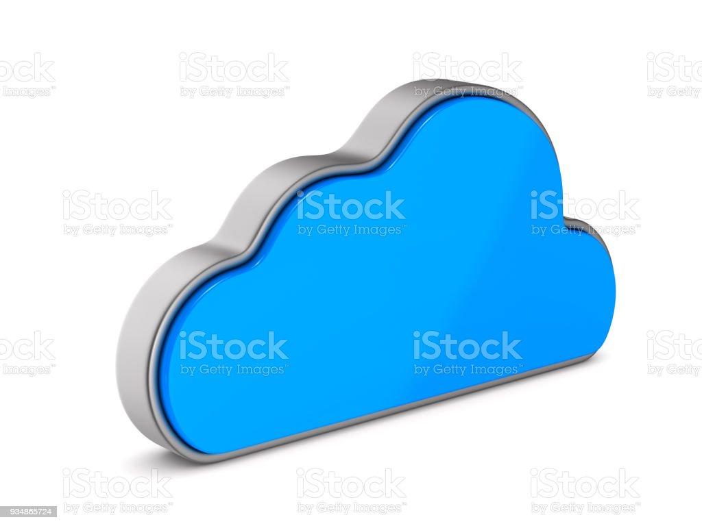 Wolke auf weißem Hintergrund. Isolierte 3D-Illustration – Foto