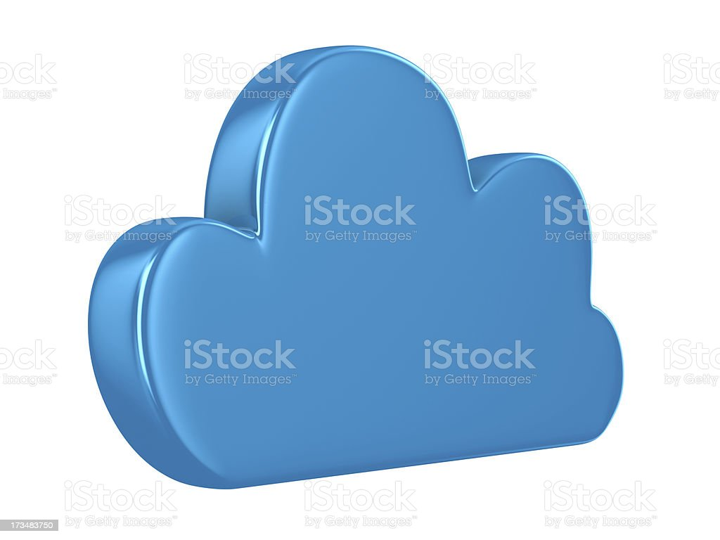 Cloud on white background. Isolated 3D image royalty-free stock photo