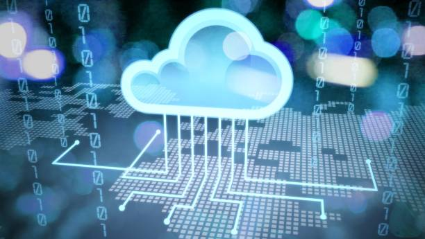 Cloud. Cloud service icon with options and devices cloud computing stock pictures, royalty-free photos & images