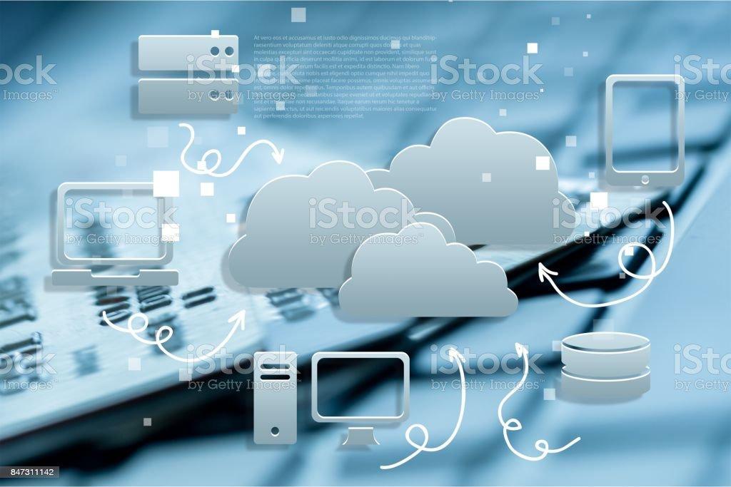 Cloud. stock photo