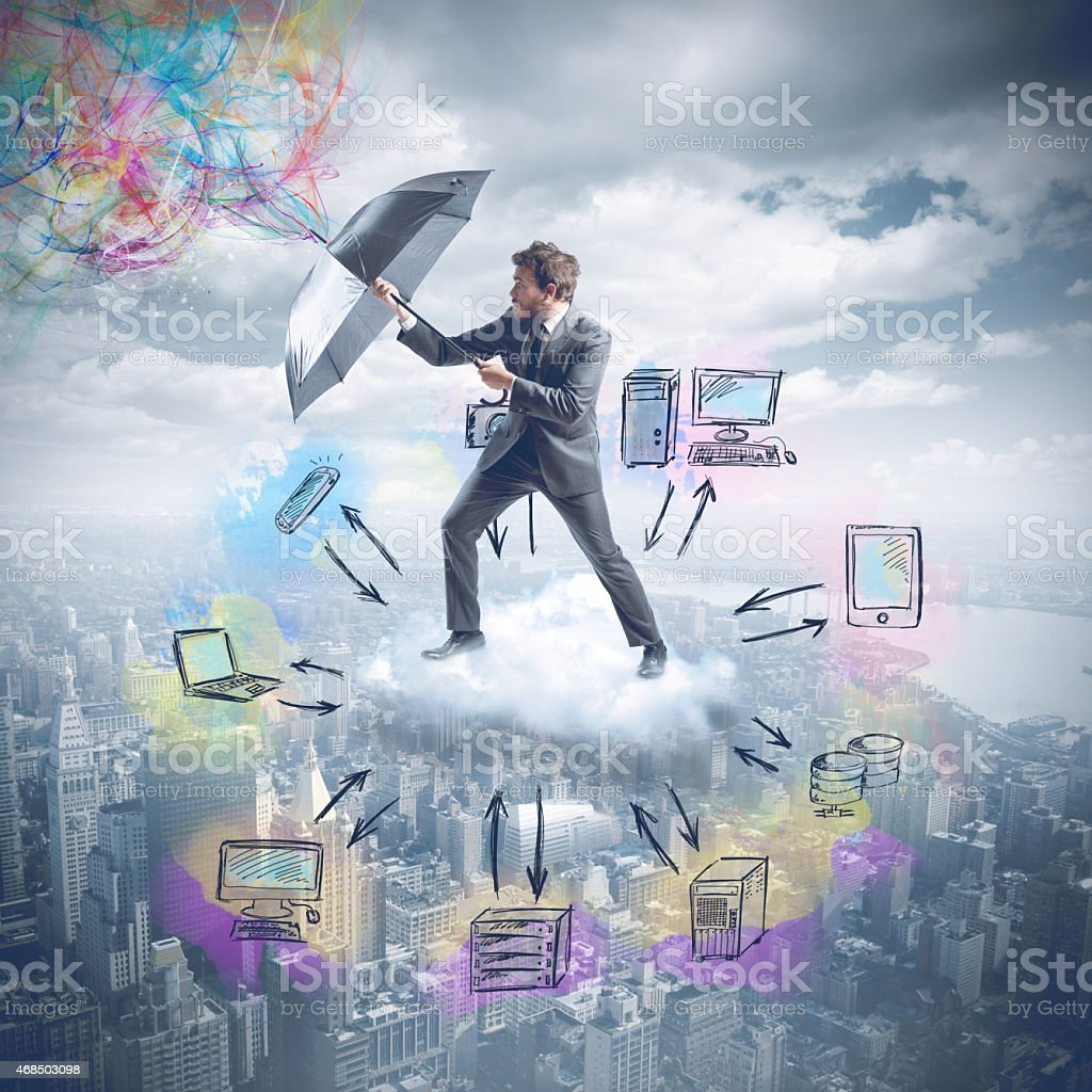 Cloud protection stock photo