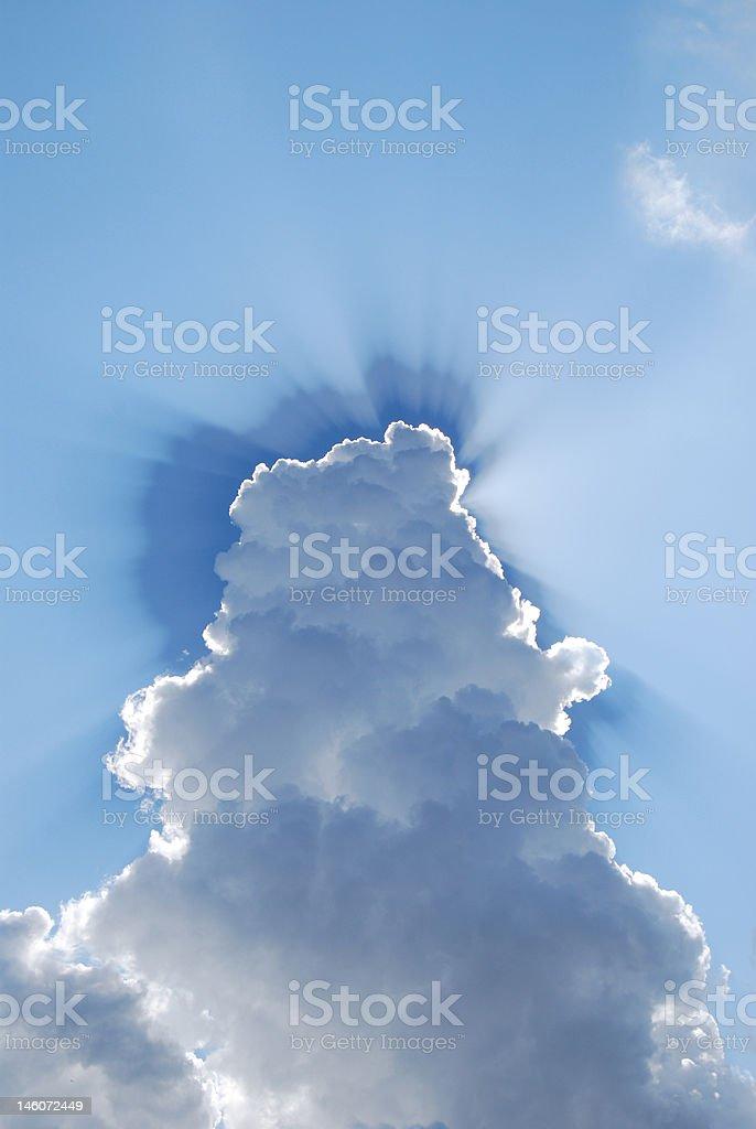 Cloud Rays stock photo