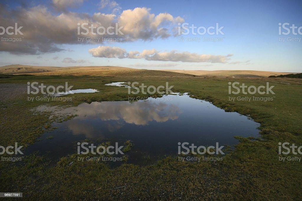 Cloud Reflection on Dartmoor royalty-free stock photo