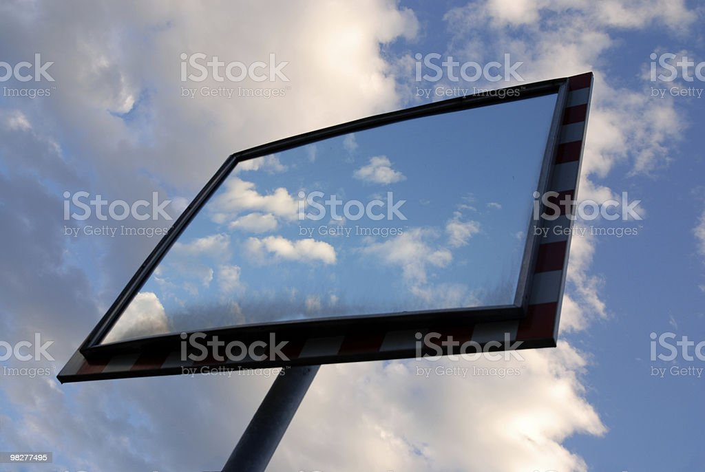 cloud reflections in a mirror royalty-free stock photo