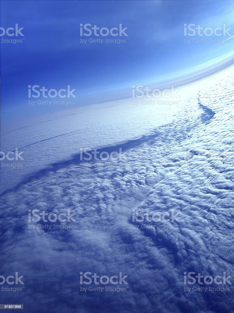 Cloud river royalty-free stock photo
