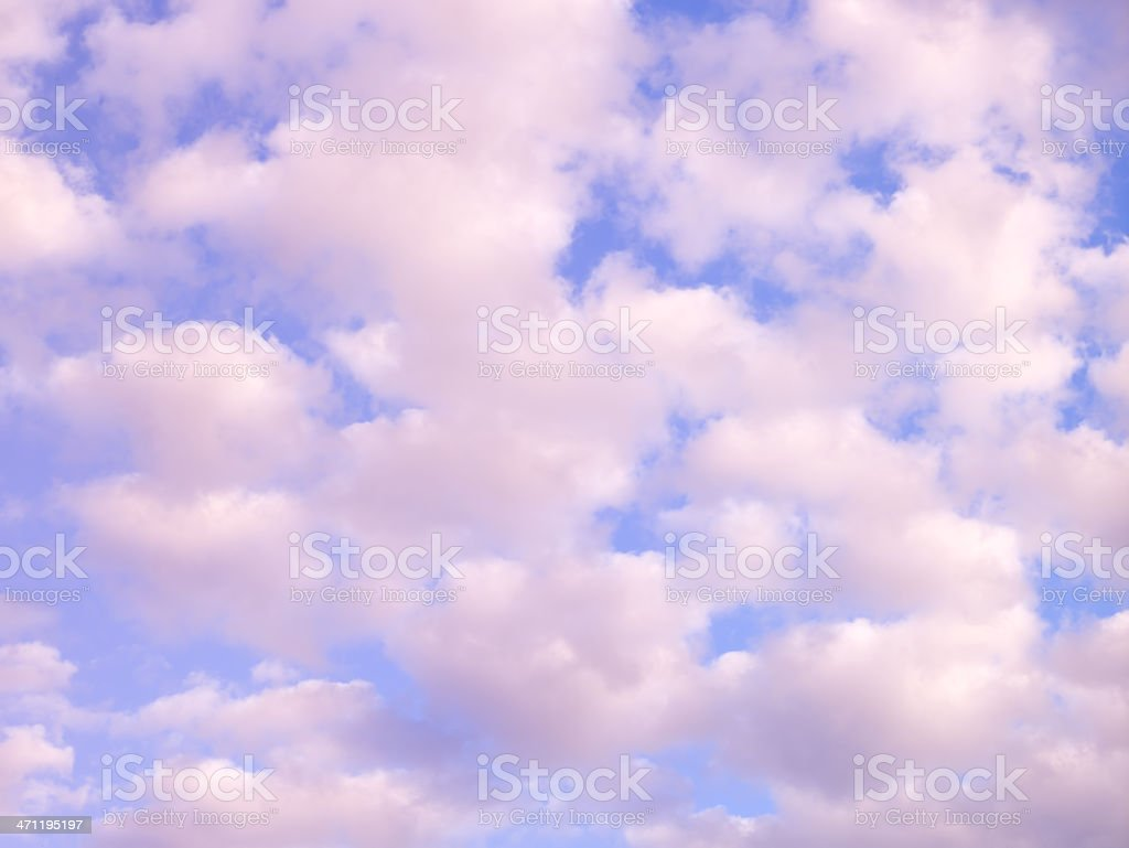 Cloud scape at dusk stock photo