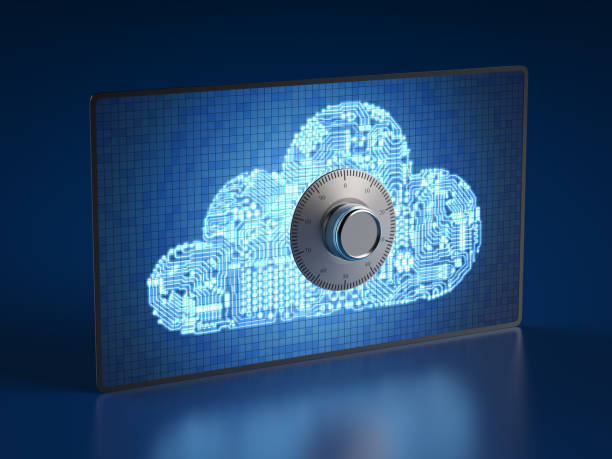 Cloud security concept stock photo