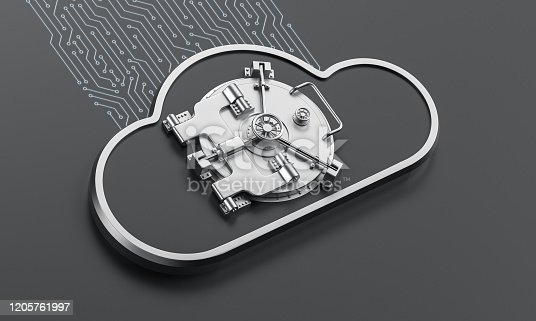 istock Cloud security concept stock photo 1205761997