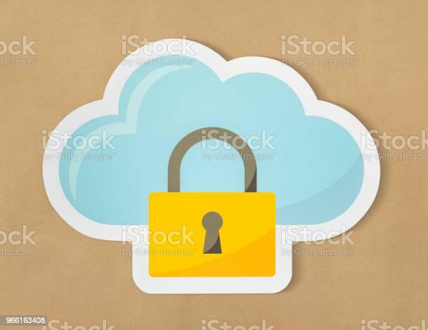 Cloud Security Ikon Teknik Symbol-foton och fler bilder på Data
