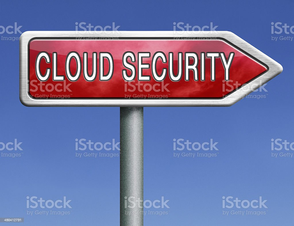 cloud security royalty-free stock photo