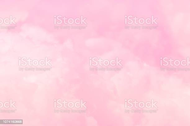 Photo of Cloud series : Colorful cotton candy. Soft fog and clouds with a pastel colored pink for background.