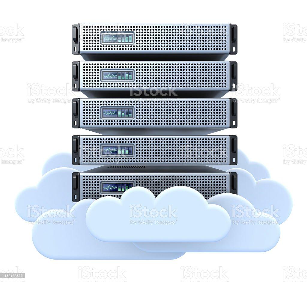 Cloud server royalty-free stock photo