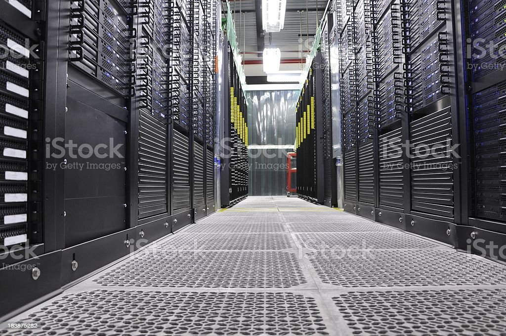 Cloud Servers in the Data Center royalty-free stock photo