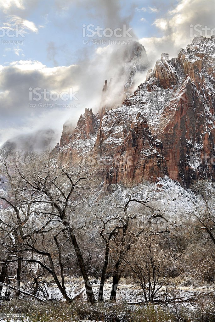 Cloud Shrouded Peaks royalty-free stock photo