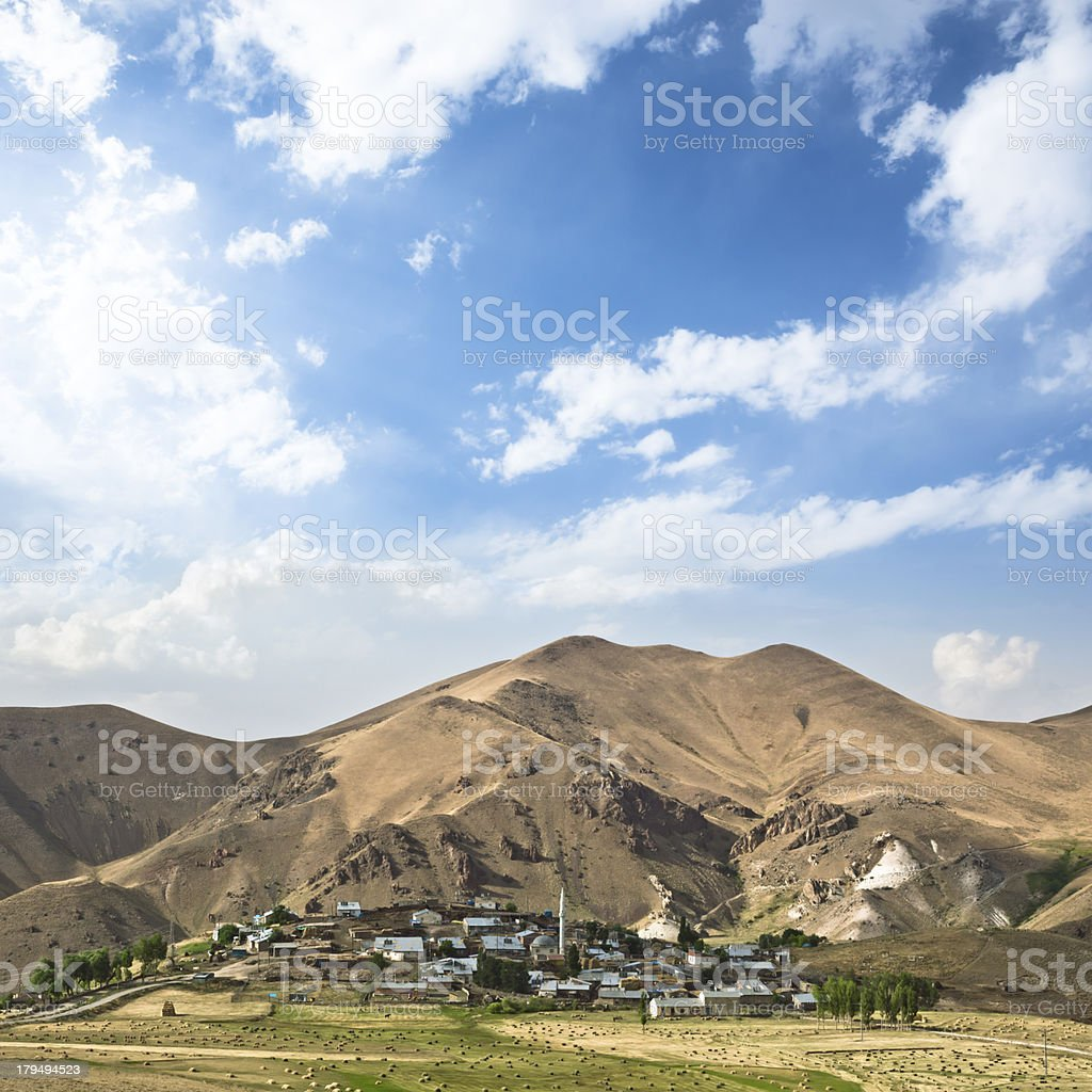 Cloud Sky and Montain Village royalty-free stock photo