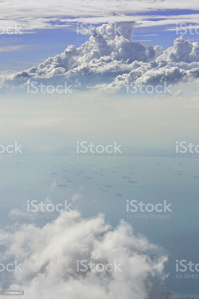 Cloud sky view from airplane royalty-free stock photo