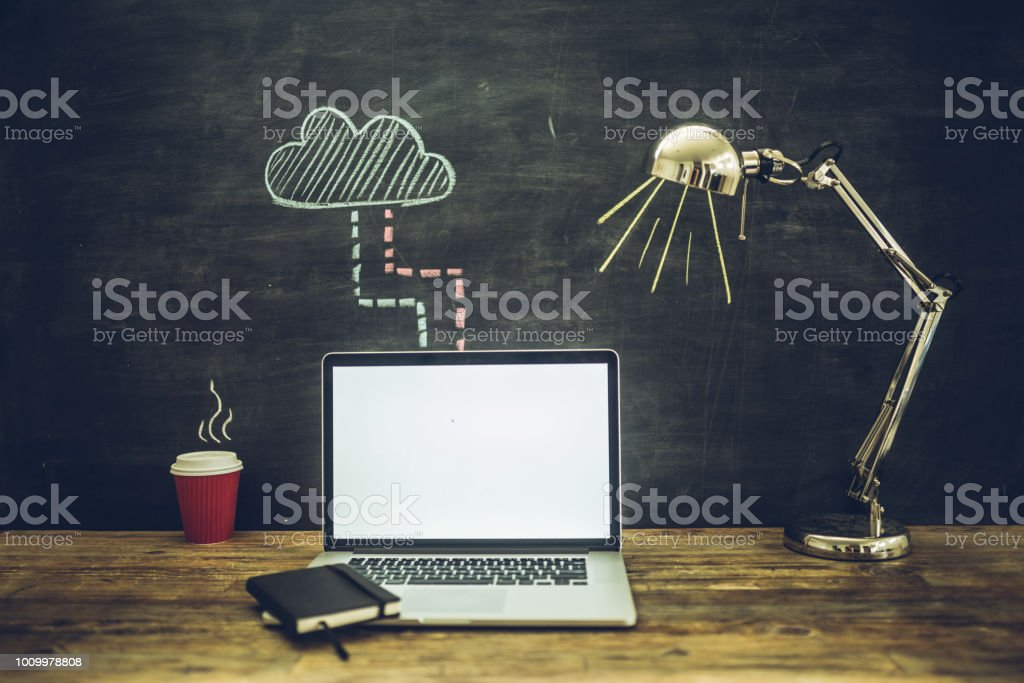 Cloud solutions concept stock photo