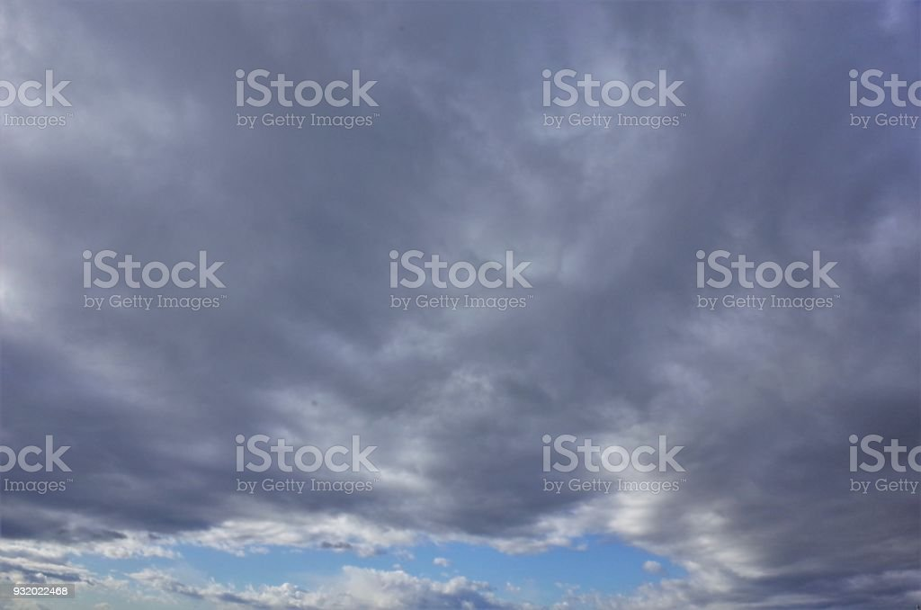 Cloud spreading all over stock photo