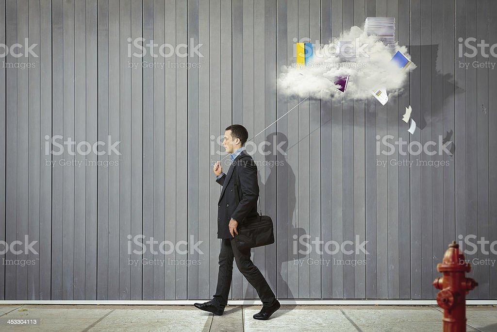 Armazenamento na nuvem - foto de acervo