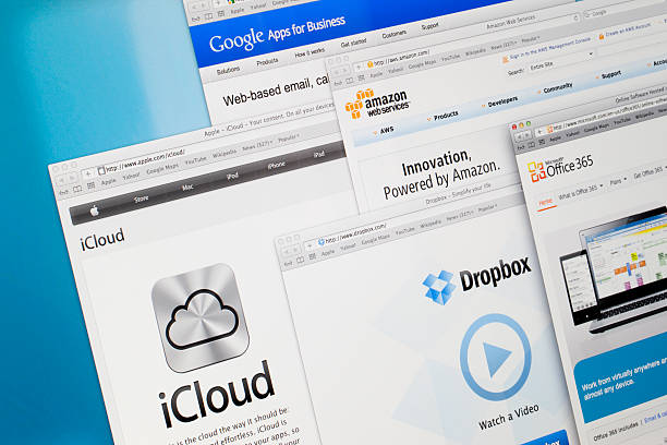 Cloud Storage Service Providers stock photo