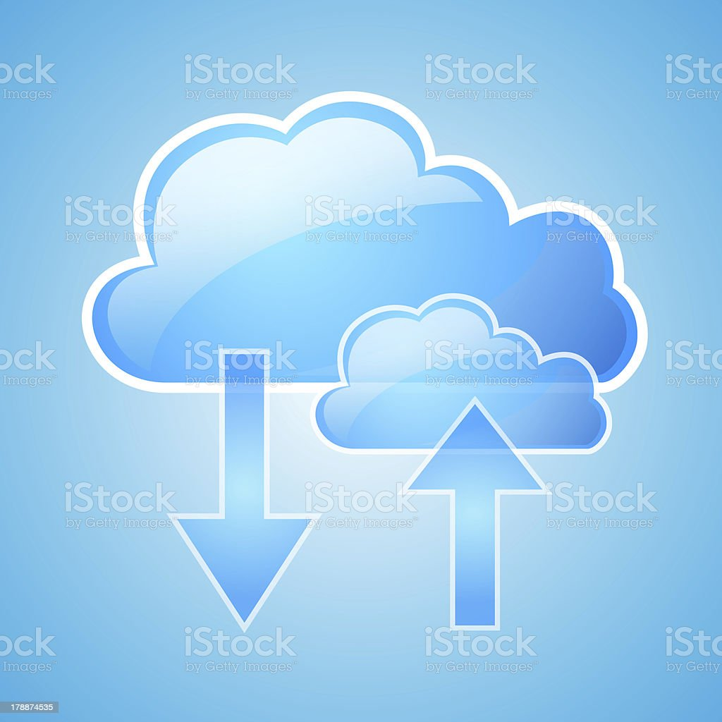 Cloud symbol used for cloud storage - Royalty-free Accessibility Stock Photo