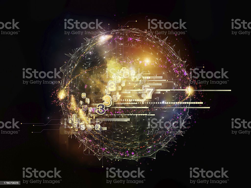 Cloud Technology Abstraction royalty-free stock photo