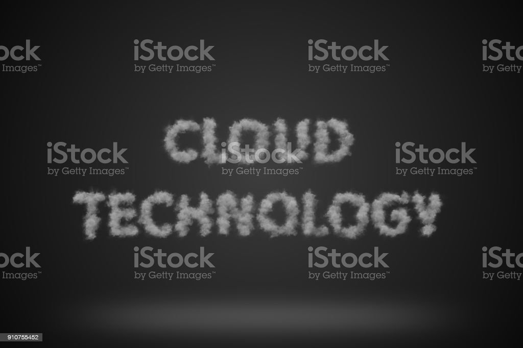 Cloud Technology Background stock photo