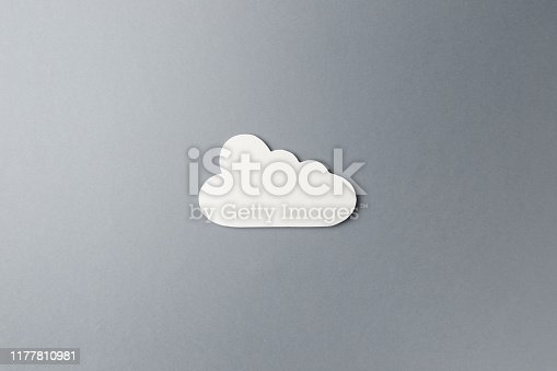 872670490istockphoto Cloud technology concept. Minimalistic cloud on grey background. Concept AI(Artificial Intelligence). Neural networks, machine and deep learning, and another modern technologies concepts 1177810981