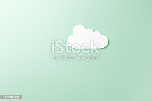 872670490istockphoto Cloud technology concept. Minimalistic cloud on mint background. Concept AI(Artificial Intelligence). Neural networks, machine and deep learning, and another modern technologies concepts 1172558851