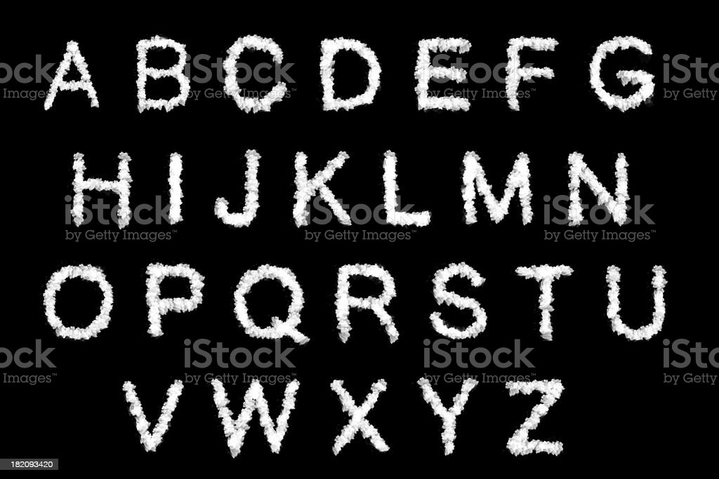 cloud text with design on black background stock photo