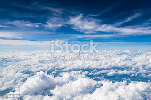 istock Cloud texture and blue sky 621591180