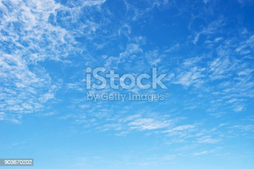 istock Cloud texture and blue sky 903670202