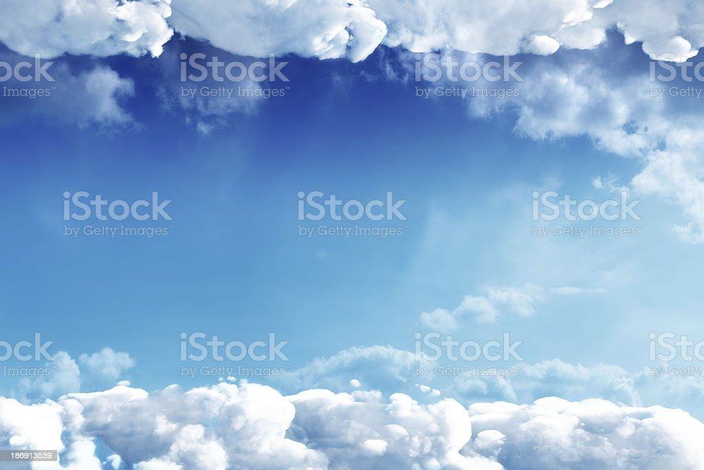 Cloud texture in sunny day royalty-free stock photo