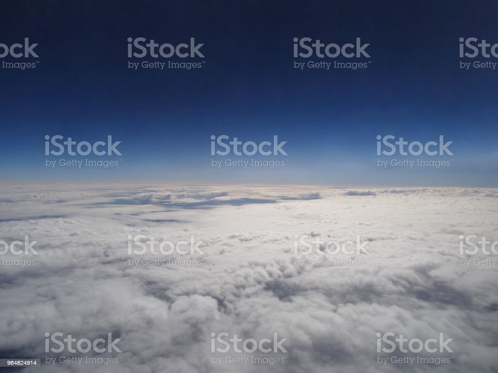 Cloud top view from the window of an aeroplane royalty-free stock photo