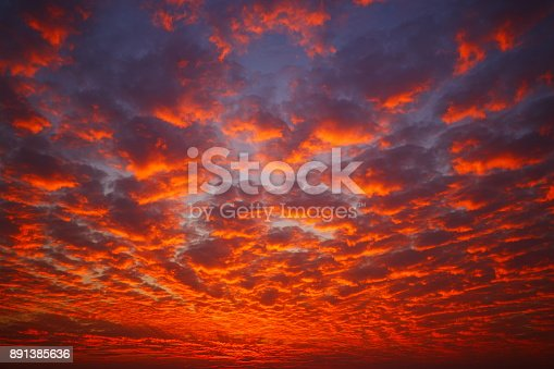 Amazing Sky At Sunset