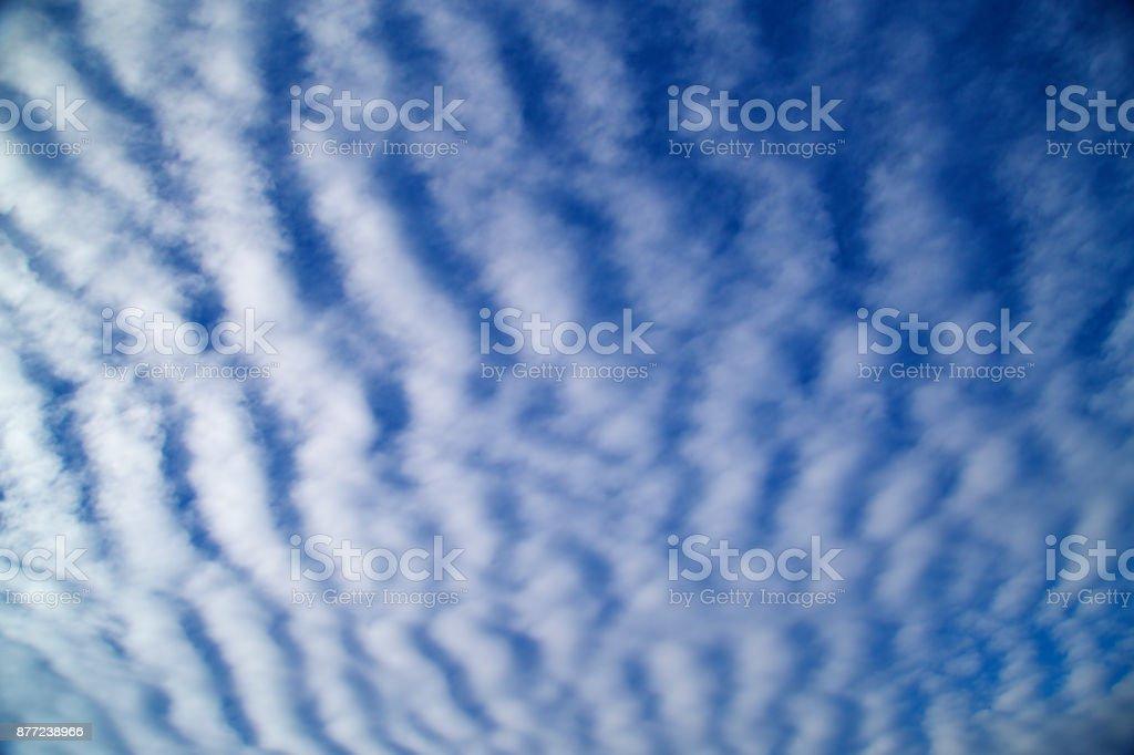 Cloud Typologies-Cirrocumulus clouds stock photo