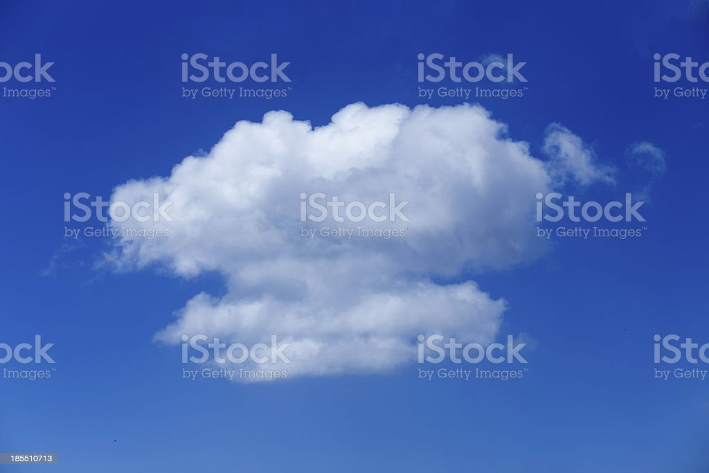 Cloud with blue sky background royalty-free stock photo
