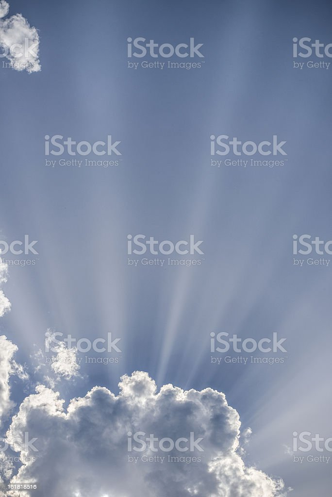 Cloud with sunbeams royalty-free stock photo