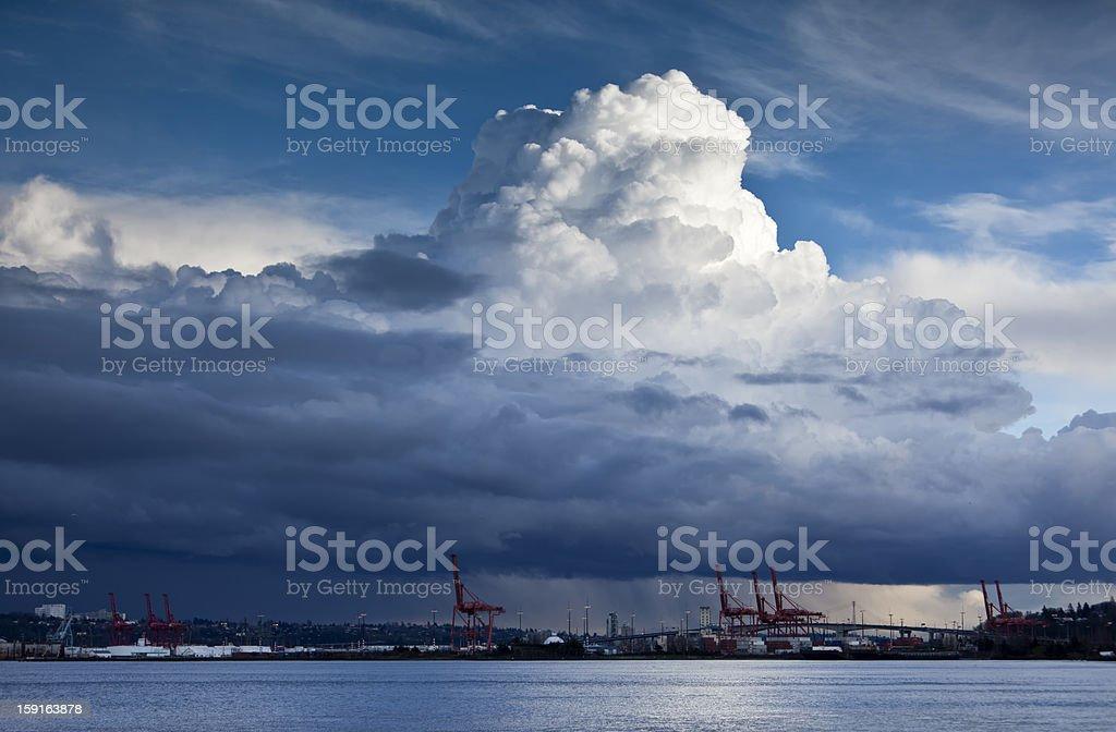 Cloudburst royalty-free stock photo