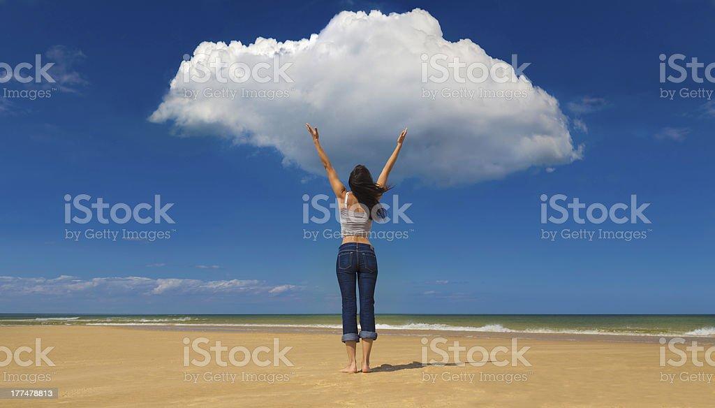 Cloudbusting stock photo
