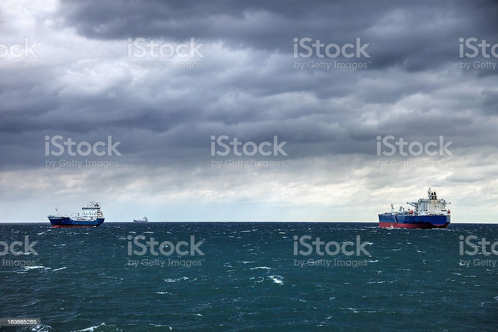 Clouded sea royalty-free stock photo
