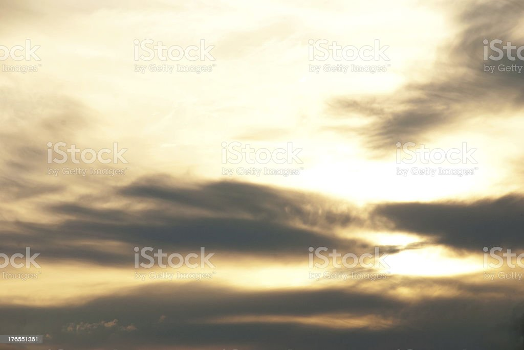 clouded soft sky stock photo