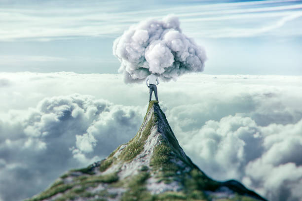 Clouded view at the top Clouded view at the top. arrogant stock pictures, royalty-free photos & images