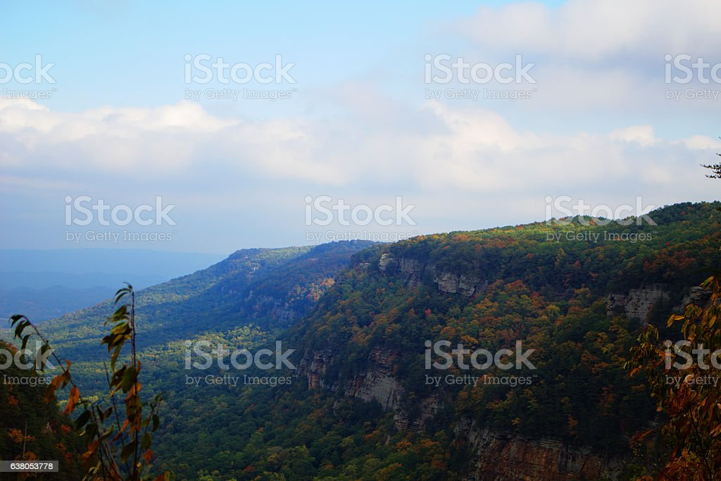 Cloudland Canyon Appalachian Trail Skyline stock photo